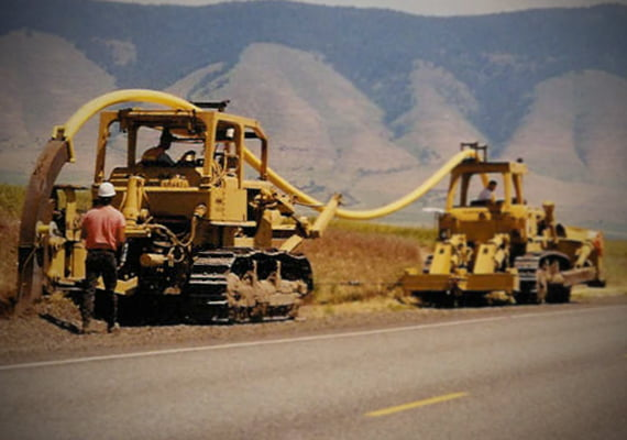 Plowing in Gas Pipe